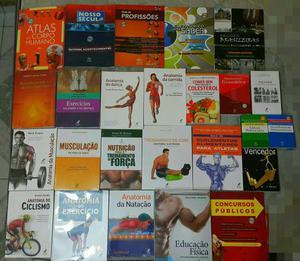 Coleçao de livros sobre nutriçao e musculaçao