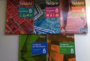 Livros Projeto Teláris 8 ano Usados Ótimo estado de