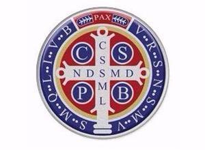 Adesivo Resinado Colorido Medalha De São Bento Refletivo