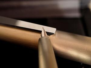 Lamy  caneta tinteiro aço inox maciço
