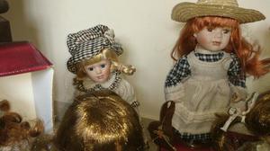 Lindas bonecas de porcelana