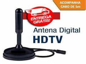 Antena HD pra TV Digital - UHF 5 Metro - Full HD - Antena