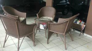 Conjunto de cadeiras para varanda/área