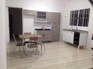 Cozinha Itatiaia + Mesa Carraro com 4 cadeiras + Gabinete