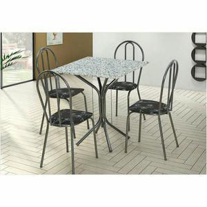 Mesa com 4 cadeiras - nova na caixa
