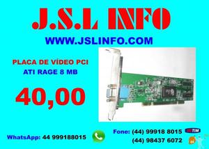 Placa Vídeo Pci