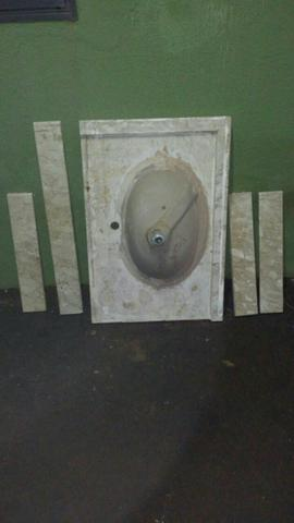 Pia para banheiro de marmore