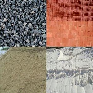 Tijolos areia e brita direto de fábrica