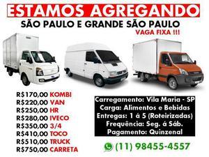 Agrega-se Kombi, Trafic, HR, Iveco, 3/4, Toco, Truck e