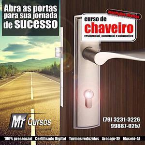 Curso de Chaveiro Residencial/Comercial e Automotivo. 100%