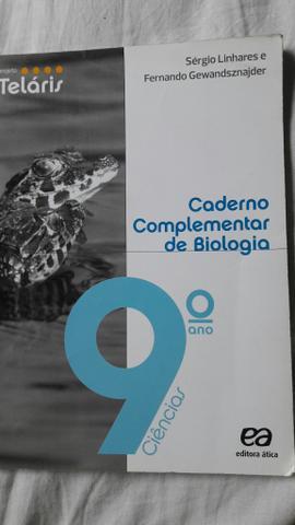 Livro (caderno complementar de biologia 9 ano)