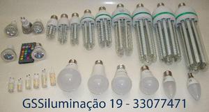 Lâmpadas Residenciais; Milho/Bulbo/G9/Gu10/Vela