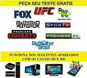 Canais de IPTV pra tv via Internet tv box e smart tv