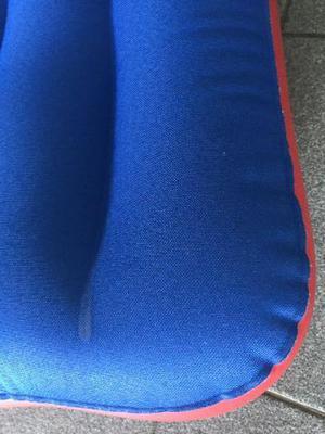 Colchão inflável Casal p/Casa e Camping azul/Vermelho