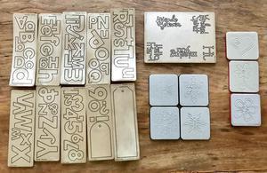 Placas de corte cuttlebug e sizzix - scrapbooking