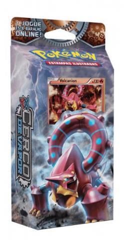 Pokémon cerco de vapor deck engrenagens de fogo volcanion