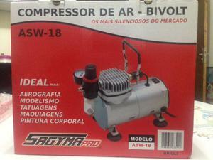 Compressor ar Sagyma asw-18 p/ aerografo. Novo