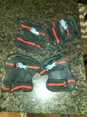 Kit de proteção para skatista tamanho m