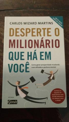 Livro Desperte o Milionário Que Há Em Voce - Carlos Wizard