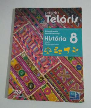Livros Projeto Teláris 8°ano Ciências, História e