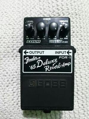 Pedal Boss Fender 65 Deluxe Reverb-Amp FDR-1