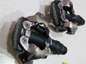 Pedal Clip Bike Shimano Pd-m520 + Plataforma + Taquinhos