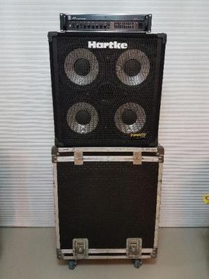 Set Para Baixo - Cabeçote Ampeg SVT - Caixa Hartke - Case -