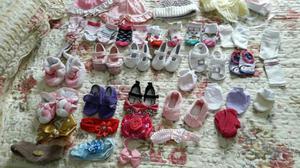Lote de roupas de menina 0 à 6 meses