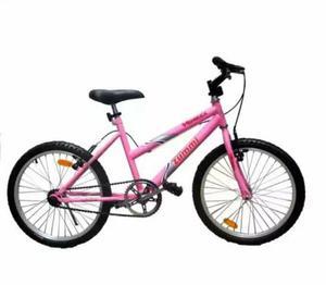Vende se uma bicicleta cor rosa