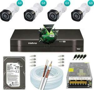 KIT de 4 Câmeras HD Intelbras (Instalado) Promoção de Ano