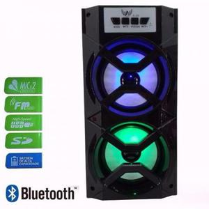 Caixa De Som Amplificada Bluetooth Bateria Usb Mp3 Rad