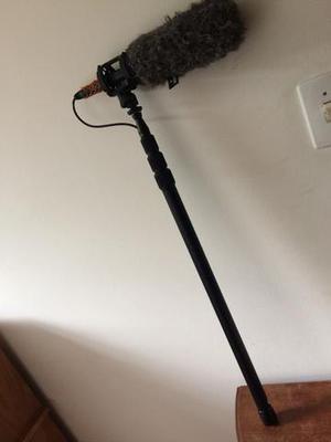 Microfone Rode Ntg2 Direcional kit Boom com vara de 2,5m de
