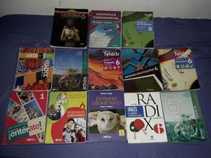 13 livros didáticos semi-novo 6º ano