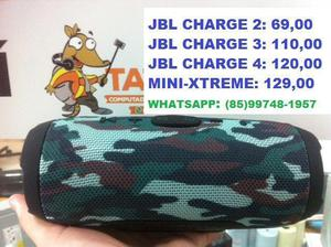 Caixa de som JBL Charge 3, Jbl Charge 4 e Jbl Mini-Xtreme