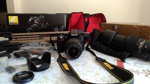 Kit Camera Nikon D+lente +acessórios