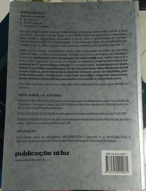 Livro Matemática Medeiros Vol. 1