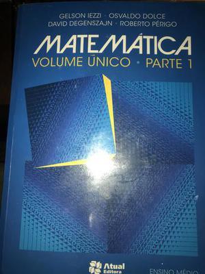 Livro Matemática, vol único, 1 ano do ensino médio, ed