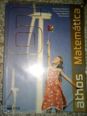 Livro de Matemática 6° ano coleção ATHOS