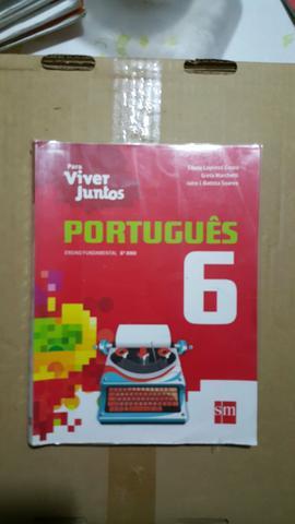 Livro didático de Português Para Viver Juntos 6