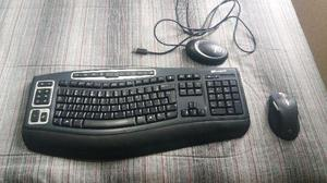 Teclado e mouse: Microsoft Wireless laser keyboard