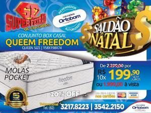 Conjunto Box Casal Qeem Freedom Ortobom