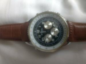 Relógio Rotary c/ pulseira de couro marrom