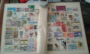 Coleção de Selos Originais de muitos países