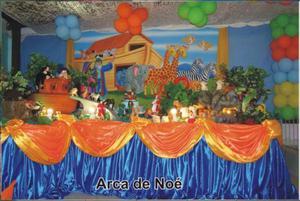 Pacote de 7 Mesas Temáticas Bichinhos (Arca de Noé, Selva,