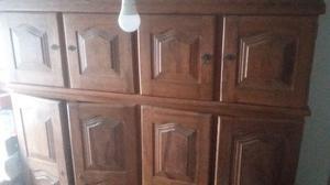 Guarda-roupas madeira maciça, casal