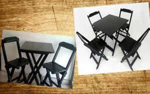 Jogo de mesa com cadeiras dobráveis