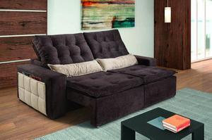 Sofá Reeclinável Retrátil Supeer Confortável Com pillow