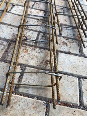 4 Colunas para concreto ferro 8mm