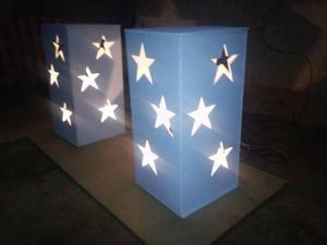 Cubos mdf,cubos iluminados, cubos de estrelas