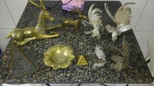 Lote de 9 peças de metal